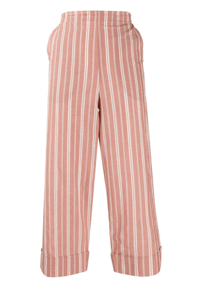 Barena striped cropped trousers - PINK