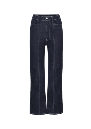 Albany high-rise straight jeans