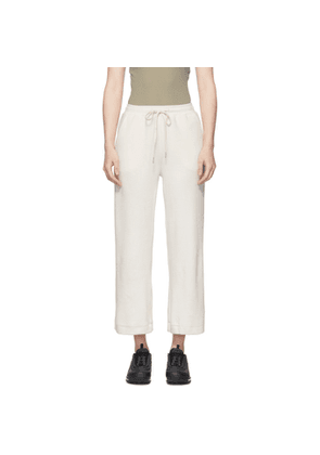 John Elliott White Corduroy Cropped Lounge Pants