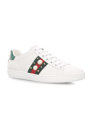 Gucci Pearl Stud Ace Sneakers