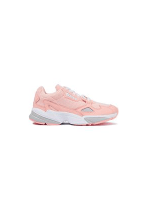 Adidas Originals Falcon Leather-paneled Corduroy Sneakers Woman Peach Size 7.5