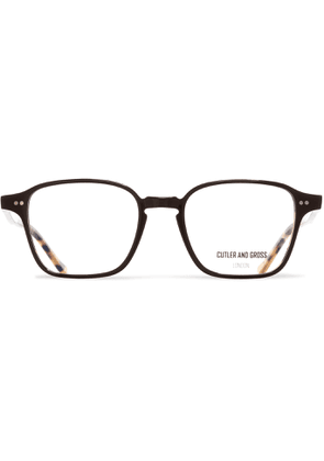 Cutler and Gross - Square-frame Tortoiseshell Acetate Optical Glasses - Black