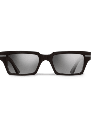 Cutler and Gross - Rectangular-frame Acetate Sunglasses - Black