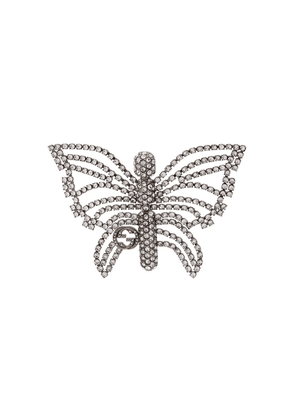 Gucci butterfly embellished brooch - SILVER