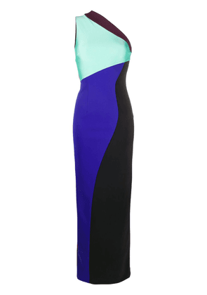 Fausto Puglisi asymmetrical fitted long dress - Black