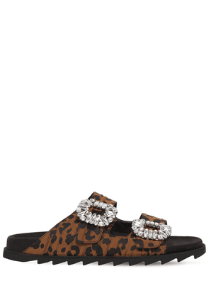 20mm Slidy Viv Leopard Canvas Sandals