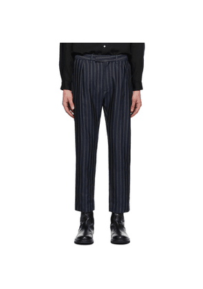 Ann Demeulemeester Navy Waveson Trousers
