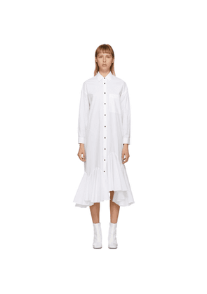 Enfold White Flare Hem Shirt Dress