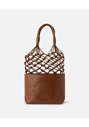 Stella McCartney Brown Logo Knotted Bag, Women's, Size OneSize