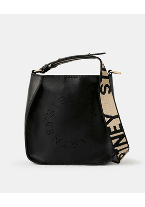 Stella McCartney Black Mini Stella Logo Shoulder Bag, Women's, Size OneSize
