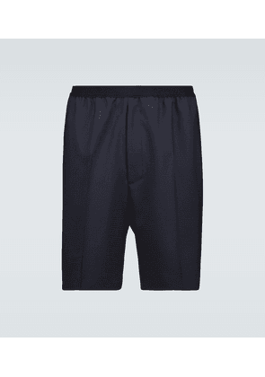 Shadow tailored wool shorts