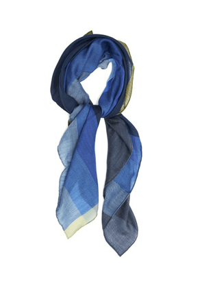 Begg & Co. - Wispy Segall Lightweight Cashmere Scarf - Mens - Blue Multi