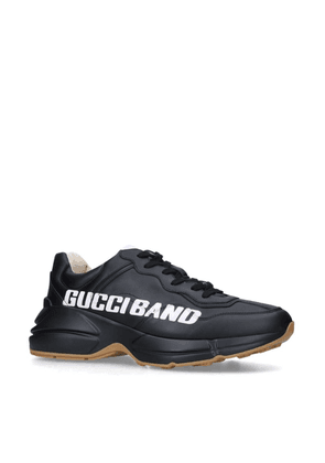 Gucci Leather Gucci Band Rhython Sneakers