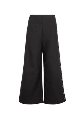Buttoned Wide-Leg Trousers