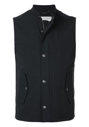 Gieves & Hawkes zipped gilet - Blue