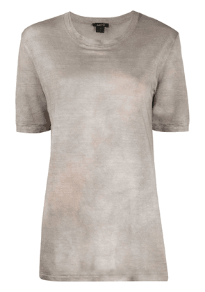 Avant Toi dyed effect T-shirt - Grey