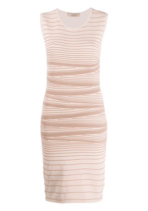 D.Exterior striped stretch knit dress - NEUTRALS