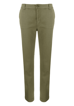 Current/Elliott tapered leg cropped trousers - Green