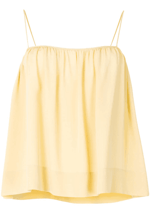 The Row flared gathered cami top - Yellow