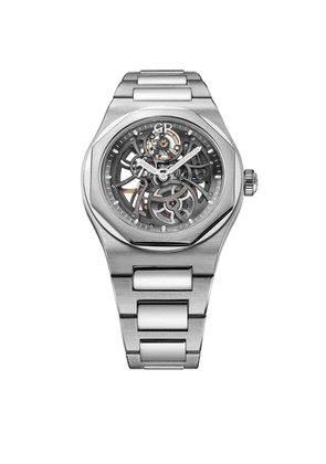 Girard Perregaux Stainless Steel Laureato Skeleton Watch 42mm