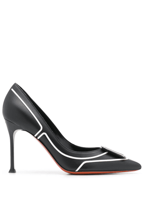 Baldinini 90mm logo pumps - Black