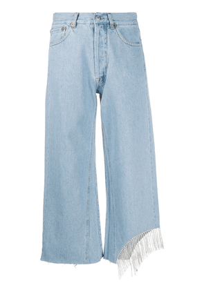 Forte Dei Marmi Couture crystal-embellished cropped jeans - Blue