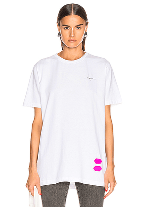 OFF-WHITE EXCLUSIVE Short Sleeve Tee in White - White. Size XL (also in ).