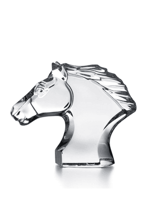 Baccarat Crystal Horse's Head Ornament