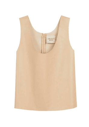 Mode Faux Leather Tank Top