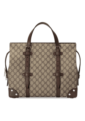 GG tote bag with leather details