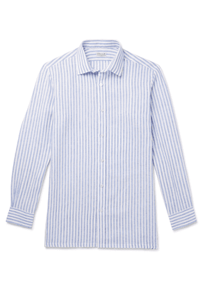 Charvet - Striped Linen Shirt - Men - Blue