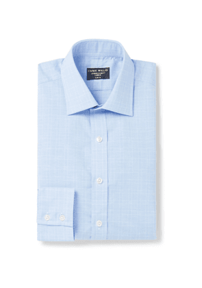 Emma Willis - Prince Of Wales Checked Cotton Shirt - Blue