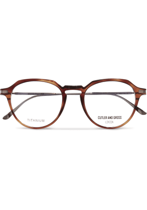 Cutler and Gross - Round-frame Tortoiseshell Acetate And Titanium Optical Glasses - Tortoiseshell