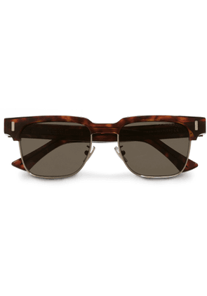 Cutler and Gross - Square-frame Acetate And Gold-tone Sunglasses - Tortoiseshell