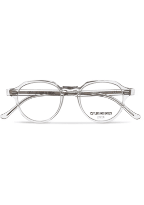 Cutler and Gross - Round-frame Acetate Optical Glasses - White