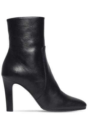 90mm Jane Leather Ankle Boots