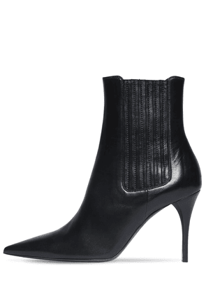 90mm Lexi Leather Ankle Boots