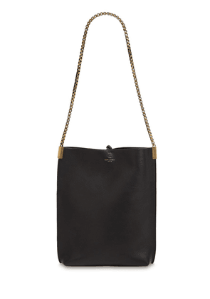 Small Hobo Chain Leather Shoulder Bag