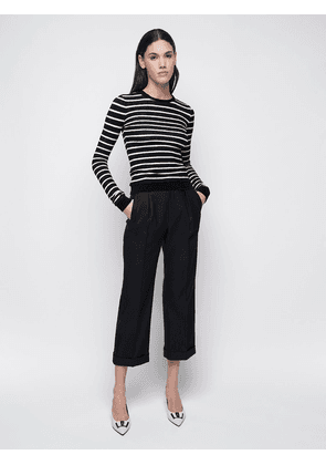 High Waist Wool Gabardine Pants