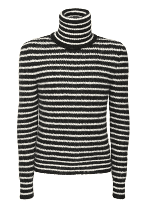 Stripe Mohair Blend Turtleneck Sweater