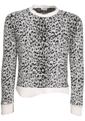 Leopard Jacquard Wool Blend Sweater