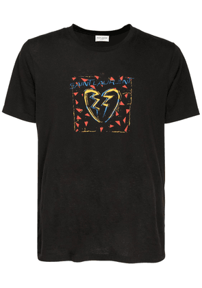 Logo Heart Print Cotton T-shirt