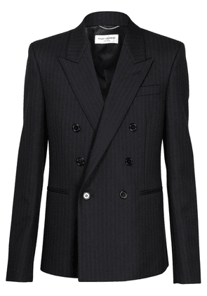 Double Breasted Slim Fit Wool Jacket
