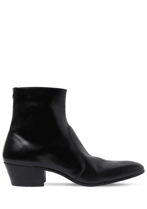 45mm Cole Zip-up Leather Boots