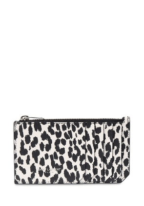 Animalier Leather Zip Card Holder
