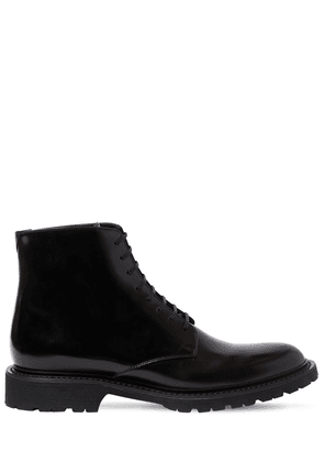 Leather Lace-up Military Boots