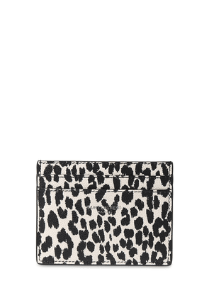 Animalier Print Leather Card Holder