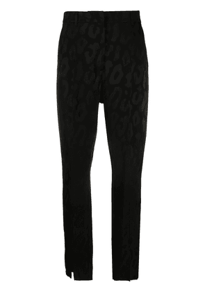 ANINE BING front slit tailored trousers - Black