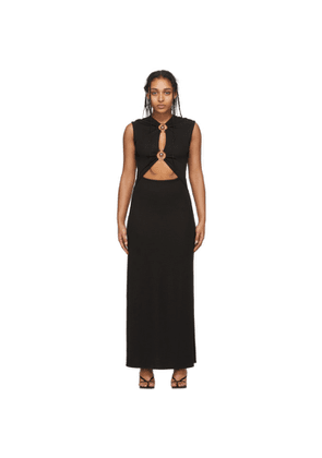 Christopher Esber Black Orbit Ruched Tank Dress