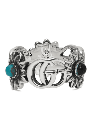 Gucci Silver GG Flower Ring